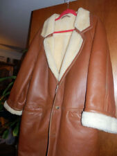 Mens sheep skin natural leather jacket size L