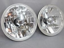 """97-18 Jeep Wrangler TJ JK 7"""" Round Chrome Replacement Crystal Clear Headlights"""