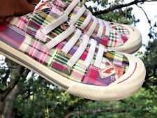 ROCKET DOG Pink Plaid Mary Janes Sneakers Loafer Ballet Flats Women Shoes Sz 6