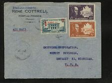 Martinique  nice cover to US          HC0402