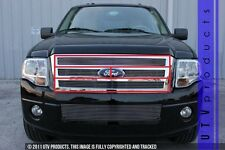 GTG 2007 - 2014 Ford Expedition 4PC Polished Billet Grille Grill Insert Kit