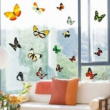 LARGE BUTTERFLIES WALL WINDOW VINYL STICKERS TRANSPARENT STUDY LIVING ROOM DECOR