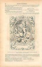 Israélites devant le Serpent d'Airain par Bernard Palissy GRAVURE OLD PRINT 1853