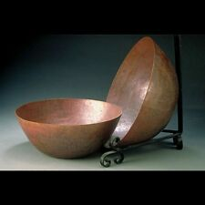 """New Hand Hammered Paul Revere Pottery-Style Copper Bowl 12"""" Size - Free Shipping"""