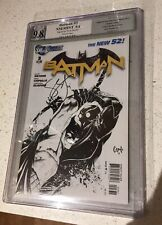 Batman 3 1:200 Sketch Cover Pgx Graded 9.8 Cgc SIGNED BY SCOTT SNYDER Dc Comics