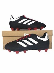Adidas Unisex-Kid Goletto VI Firm Ground Football Shoes Black/Red/White Sz 5.5