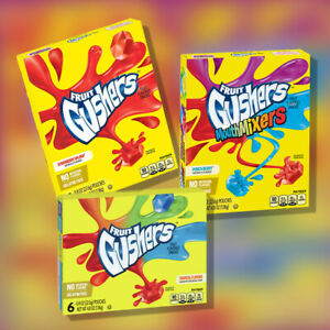 Betty Crocker Fruit Gushers Gelatin Free Fruit Snack Pouches 136g (4.8oz)