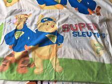 Winnie The Pooh Tigger Super Sleuths Duvet Cover Pillowcase Set Fabric Bedding