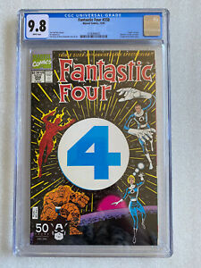 "Fantastic Four #358 CGC 9.8 Marvel's 1st die-cut cover ""Death"" of Lyja 1991"