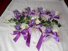 Tischdekoration 11 tlg.  Herz,lila Tischdeko Hochzeit Kommunion Taufe Verlobung