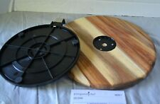 Pampered Chef Acacia Wood Lazy Susan - Use for both Serving or Cake Decorating!