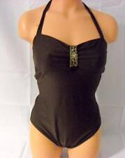 Style & Co. Brown Halter One Piece Bathing Suit Ladies Size 8
