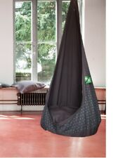 Hanging Seat Chair Cave relaxme Made of Cotton for Kids - taupe-grün, NEW