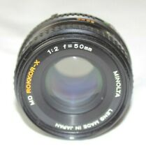 Minolta MD Rokkor-X 50mm f2 Manual Prime Lens - Clean and Working Perfectly!