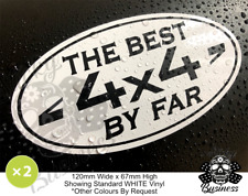 Landrover Stickers Best 4x4 By Far off road x2 range one life defender 33 COLOUR