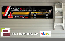 Audi Quattro Rally Car Banner for Workshop, Garage, Group B, HB International XL