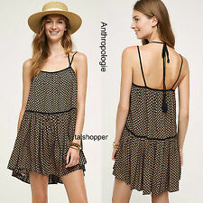 NWT $218 S/M Anthropologie Mabel Sun Dress by Flannel Strappy Flirty So Cute!