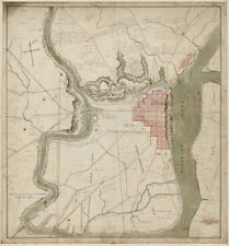Map of Philadelphia neightborhood c1778 20x21