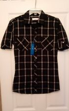 New Women's Plaid Flannel Button-Up Shirt Size Small