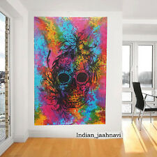 Head Of The Human Skull Tapestry Wall Hanging Bohemian Bedspread Ethinc Wall Art