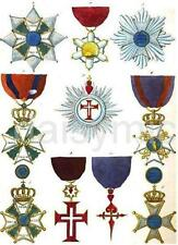 Historical Orders of Chivalry & Military 1820 Templar Teutonic 7x5 Inch Print