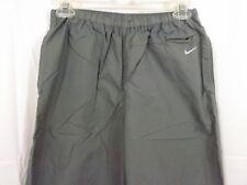 Women's NIKE Windbreaker Pants Gray Warm Up Pant Size Small