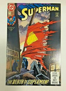 SUPERMAN #75 DIRECT EDITION 1ST PRINT DC COMICS(1993) DEATH OF SUPERMAN DOOMSDAY