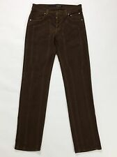 Jeckerson pantalone w30 44 fustagno regular slim skinny uomo pants marrone T1419