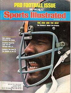 1975 9/22 Sports Illustrated magazine Football Joe Greene Pittsburgh Steelers Gd