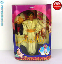 New vintage Mattel 1992 Disney's Aladdin movie doll with color changing lamp