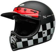 BELL MOTO 3 HELMET - FASTHOUSE CHECKERS  - MX - FAST FREE DELIVERY