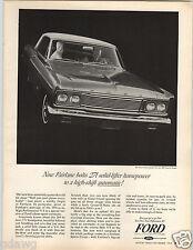 1964 PAPER AD Ford Fairlane 500 Sports Coupe 271 HP Car Auto Automobile