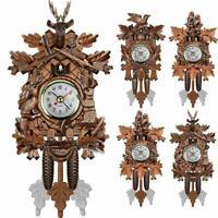 Antique Mini Cuckoo Clock Vintage Forest Quartz Swing Wall Alarm Art Room Decor