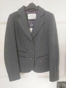 Ness Lana Grey Herringbone Jacket Blazer Size 10