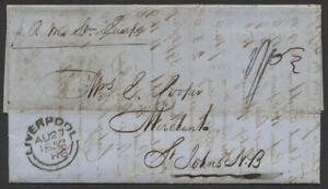 "1852 TransAtlantic SFL, Liverpool to St John NB, ""Europa"", St Andrews NB"