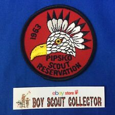 Boy Scout Camp Patch 1963 Pipsico Scout Reservation (Tidewater Council)