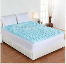 Orthopedic Foam Mattress Topper 2 Inch Gel Pad Cover Memory Bedding King Size