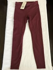 Fabletics NWT $79 Maroon Mid-Rise Cold Weather Legging Sz.S