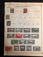 1879-1917 Bosnia and Herzegovina Postage Stamps Used, Unused Lot of 14 Stamps
