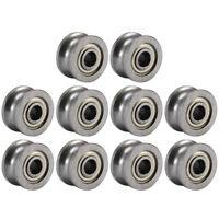 10PCS 624UU U624ZZ 4mm Groove Guide Pulley Sealed Rail Ball Bearing 4x13x7mm