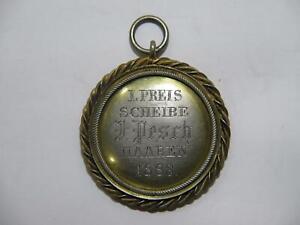 GERMANY GERMAN PRIZE? AWARD MEDAL I PREIS SCHEIBE HAAREN 1883 GILT SILVER? ?????