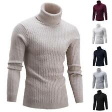 Men's Sweater Pullover Casual Solid-Color Knitt Sweaters Comfortable Turtleneck