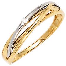 Echte Diamanten-Ringe aus Gelbgold für Verlobung und Damen