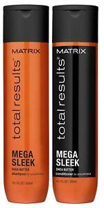 MATRIX TOTAL RESULTS MEGA SLEEK SHAMPOO 300 ML AND CONDITIONER 300 ML