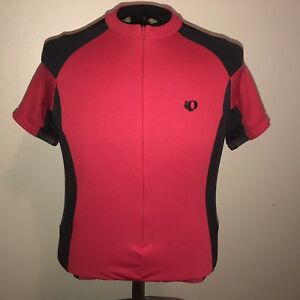 Pearl Izumi Cycling Jersey Large Fitted Short Sleeve Red Black Vented w/ Pockets