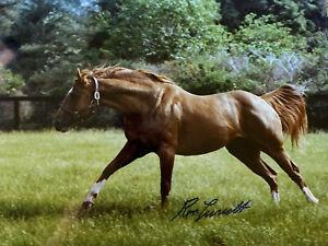 Secretariat signed photograph  Ron Turcotte autograph Farm triple crown 1973