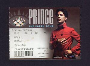 Original 2007 Prince Concert Ticket Stub The O2 London UK Earth Tour 9/21