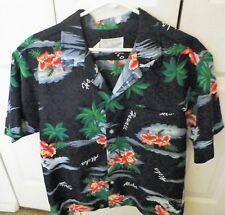Surfside Sportswear Hawaiian Shirt Large Black