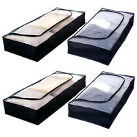 4x Unterbettkommode aus Vliesstoff | Unterbettbox Unterbett Aufbewahrungstasche