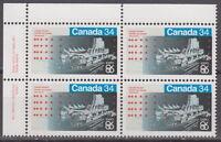 CANADA #1078 34¢ Expo 86 UL Inscription Block MNH